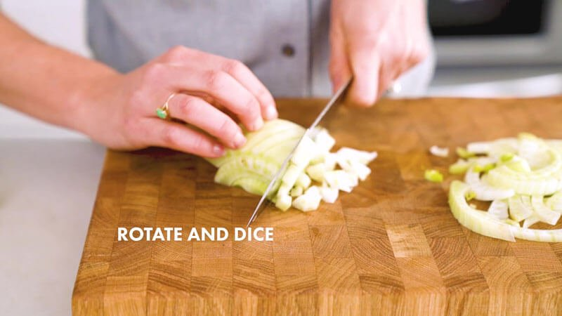 How to Cut Fennel | Rotate and dice