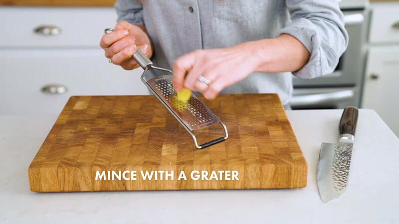 How to Cut Ginger | Mince with a grater