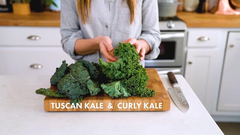 How to cut kale | Tuscan kale & curly kale