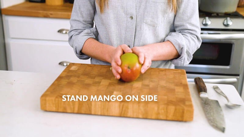 How to Cut a Mango | Stand the mango on its side