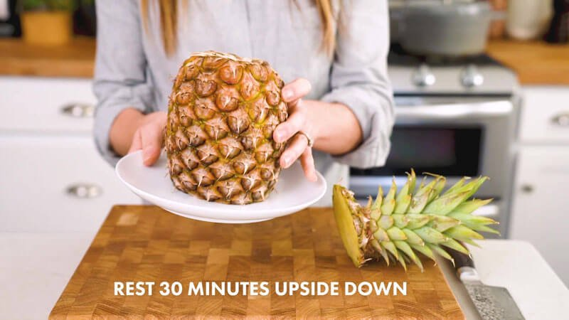 How to Cut a Pineapple | Rest for 30 minutes upside down