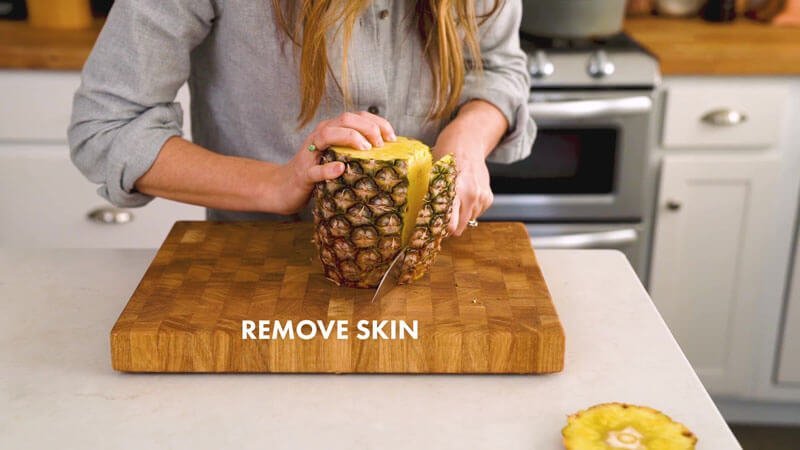 How to Cut a Pineapple | Remove skin