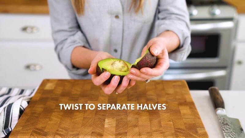 How to Cut an Avocado | Twist to separate halves