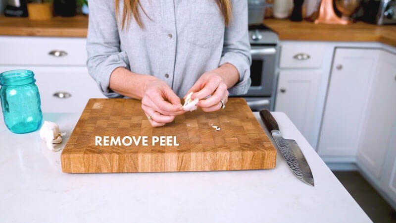 How to mince garlic | Remove peel