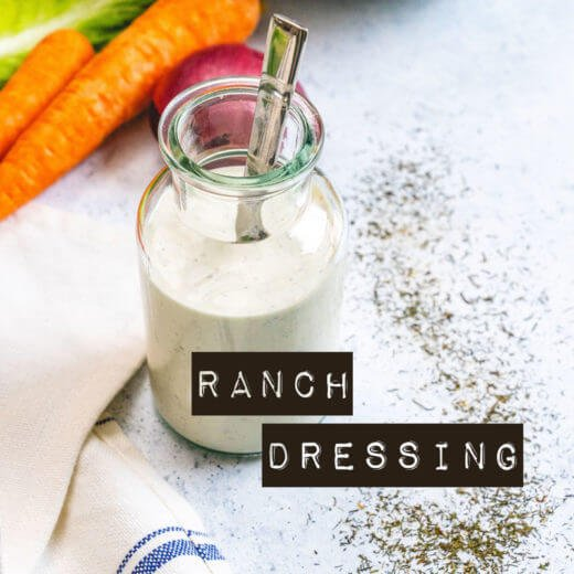 Homemade ranch dressing | Best ranch dressing | healthy ranch dressing