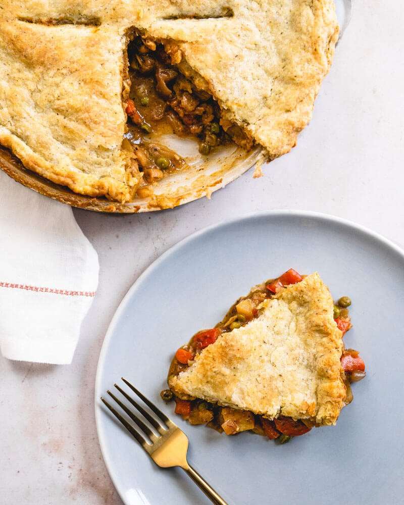 Vegetarian pot pie | How to make pot pie