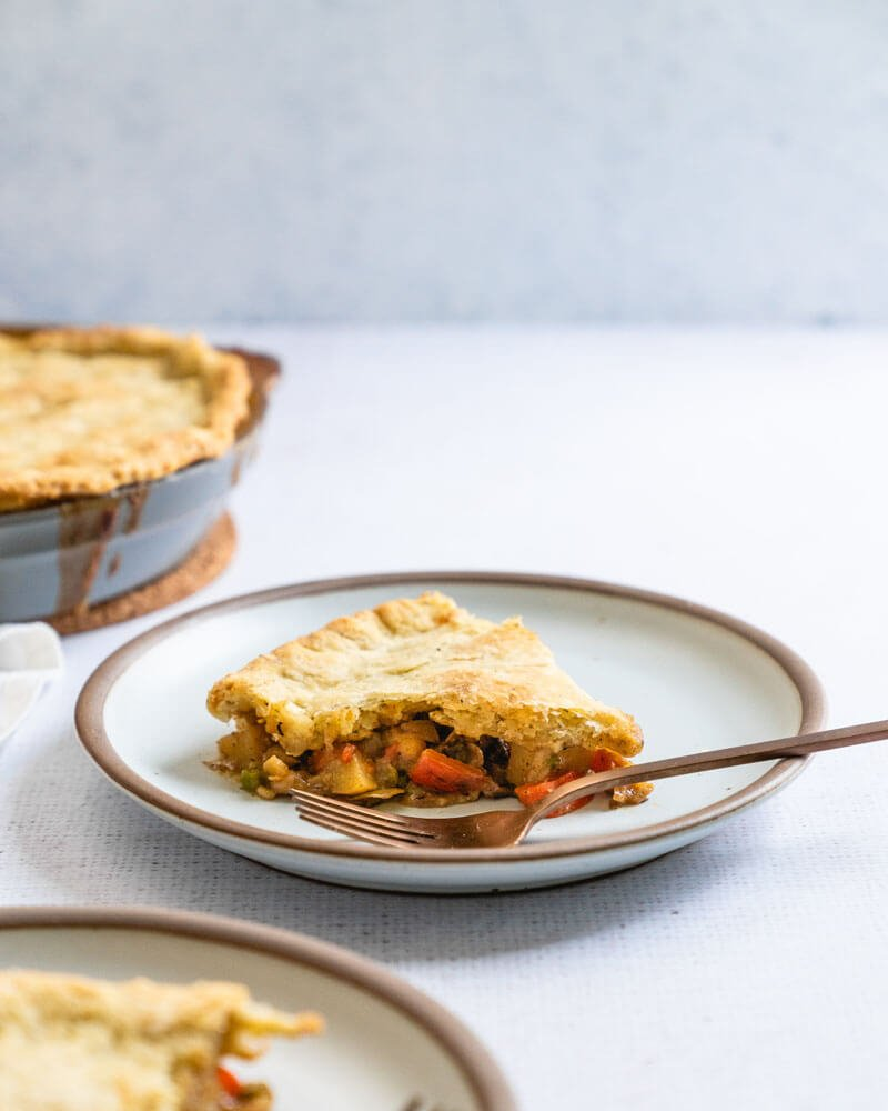 Vegetarian pot pie | Pot pie crust