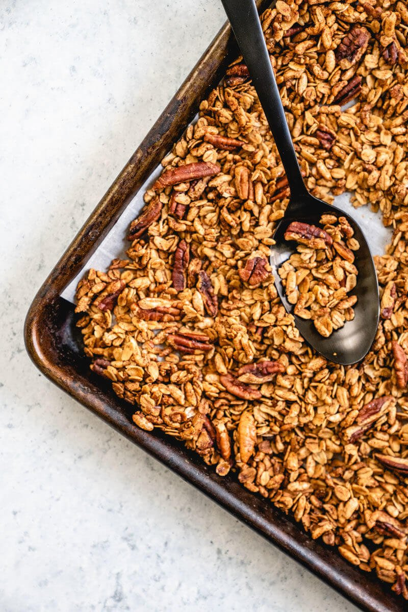 Plant based diet meal plan: Healthy granola recipe