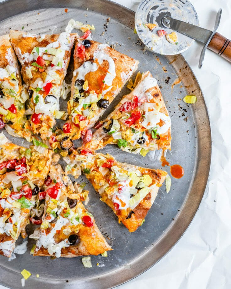 Best Ever Taco Pizza