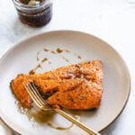 Broiled Salmon with Bourbon Glaze