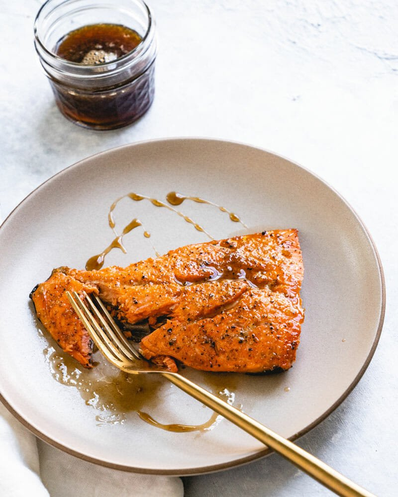 Broiled Salmon With Bourbon Glaze A Couple Cooks