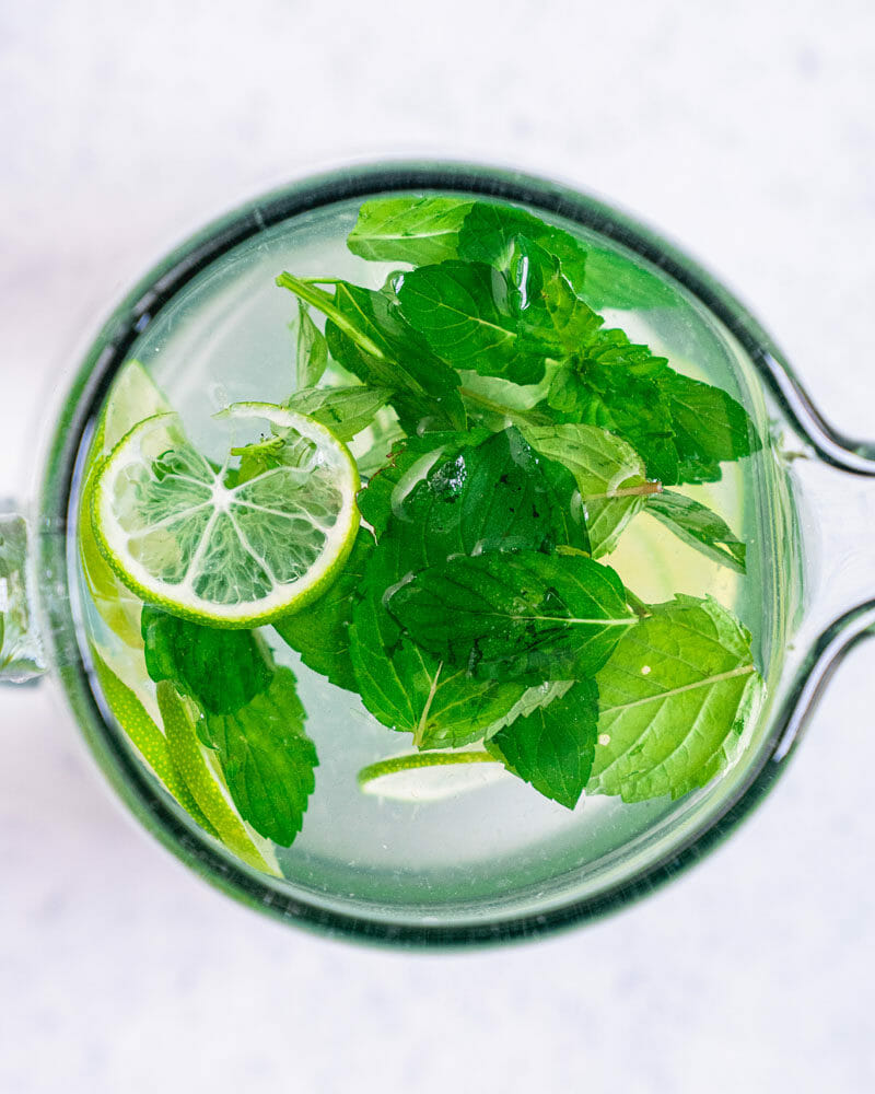 Mint in pitcher