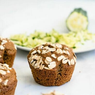 Healthy zucchini muffins