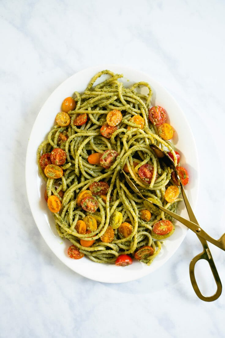 Spaghetti with Vegan Pesto