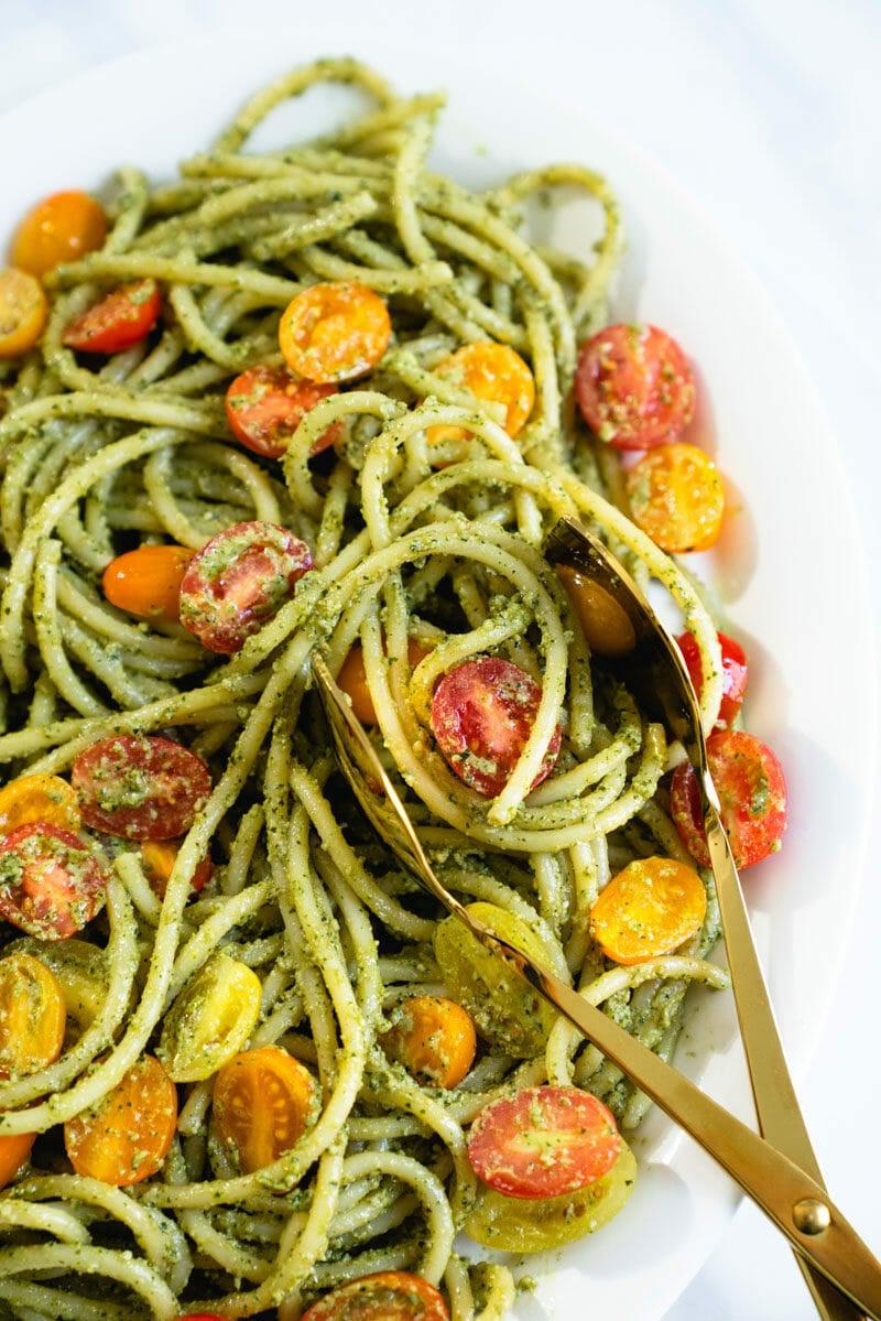 Cashew pesto pasta