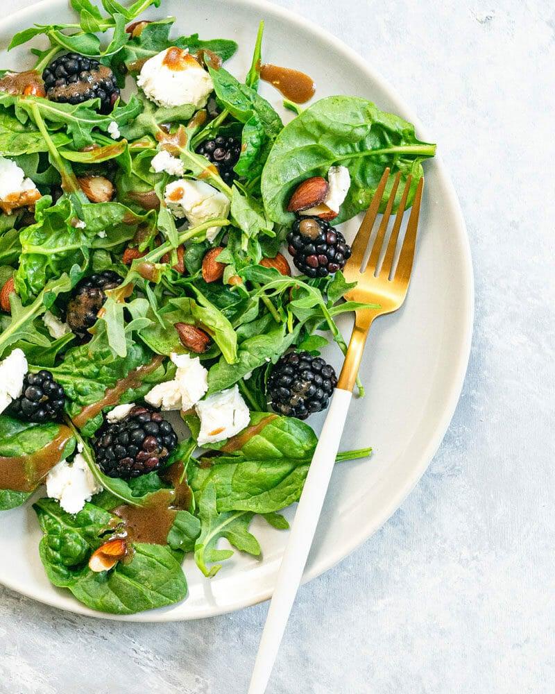 Blackberry salad with balsamic vinaigrette