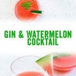 Gin and Watermelon Cocktail