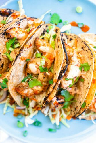 Grilled shrimp tacos