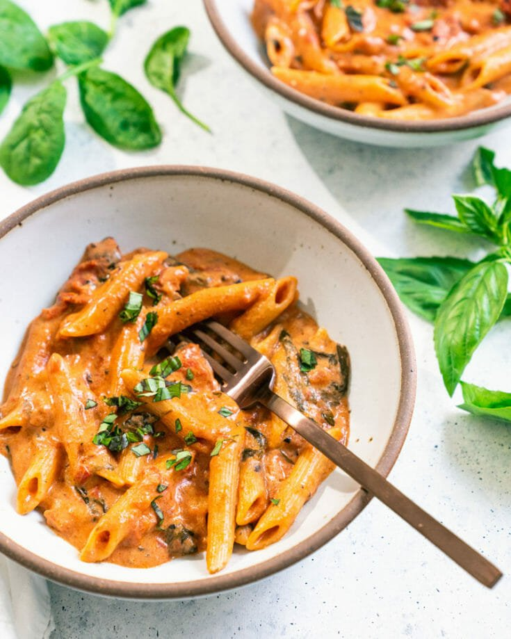 Creamy Goat Cheese Penne