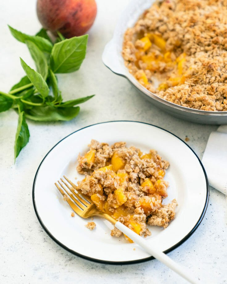 Peach Crisp with Basil
