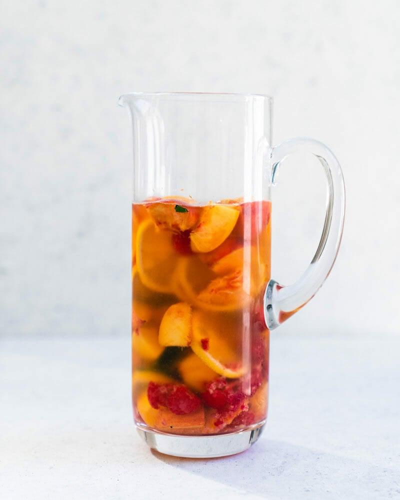Easy peach sangria