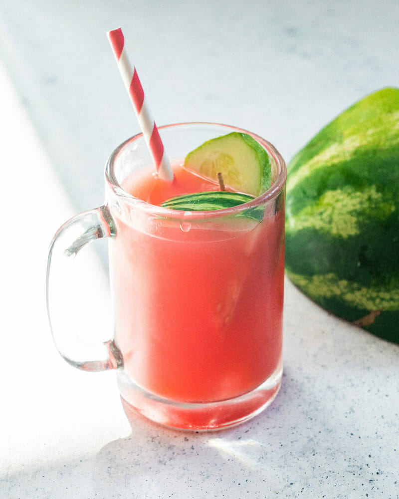 Watermelon cucumber juice