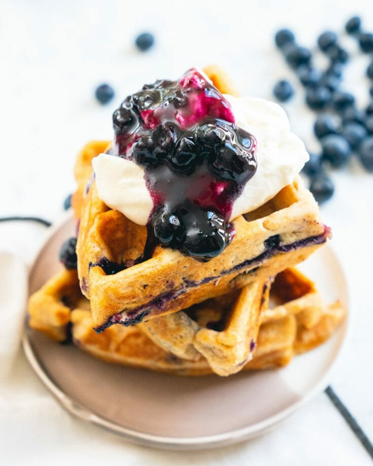 Favorite Blueberry Waffles