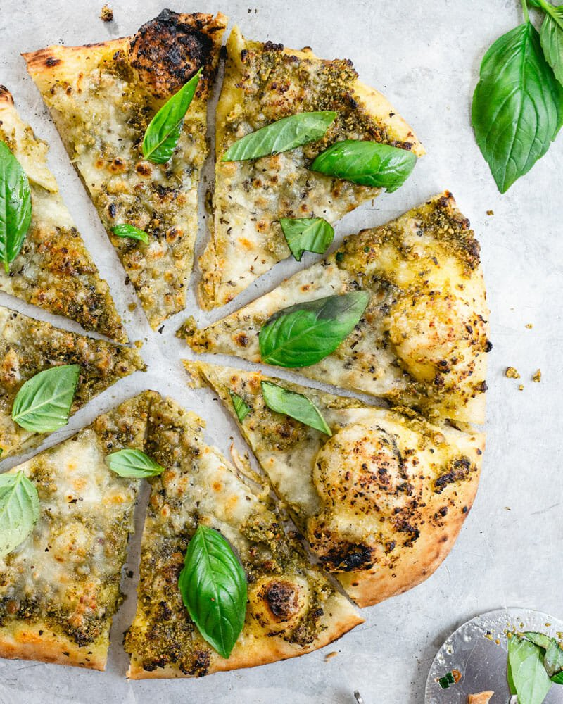 Everything Basil Pizza A Couple Cooks