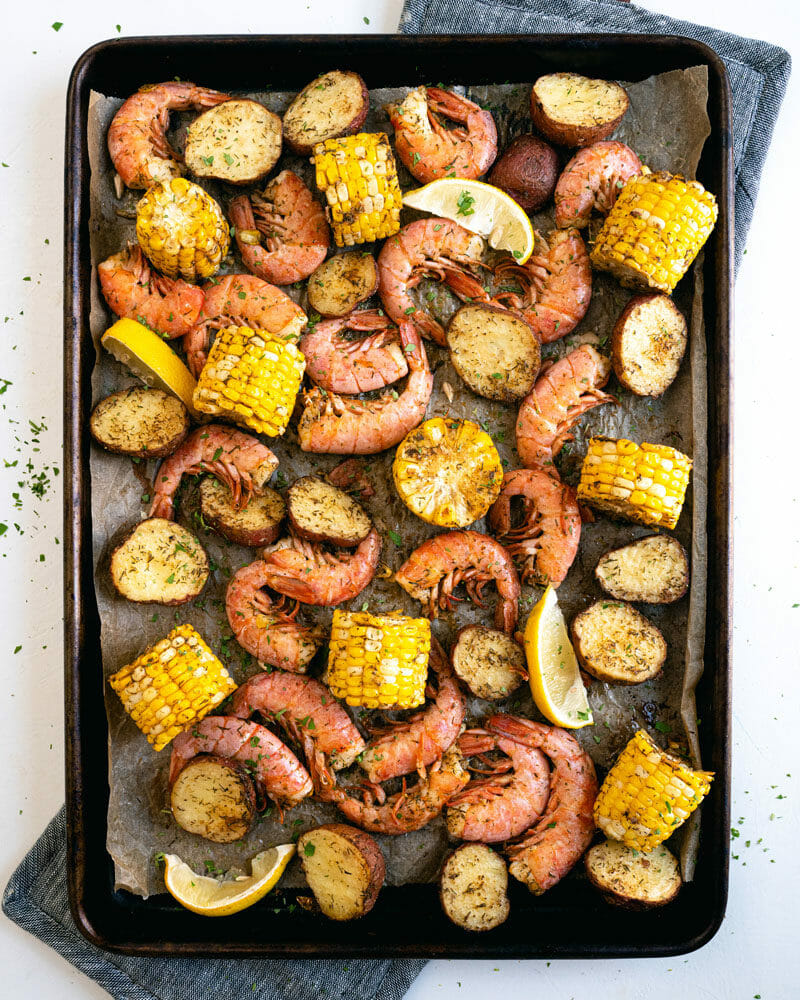 Shrimp Boil in Oven | Sheet pan shrimp boil