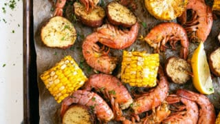 Sheet Pan Shrimp Boil in Oven
