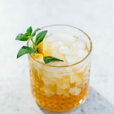 Maple bourbon smash