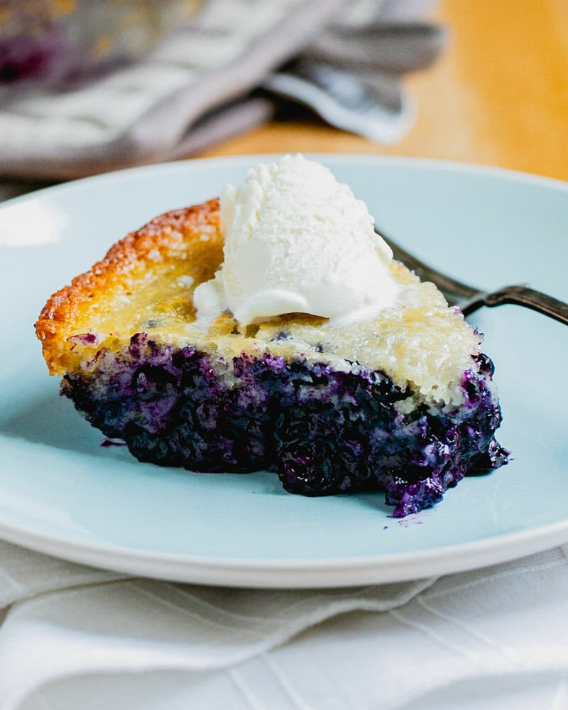 ?Magic? Blueberry Cobbler