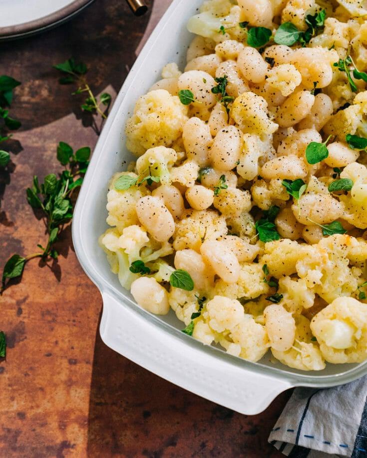 Cauliflower Casserole with Gnocchi