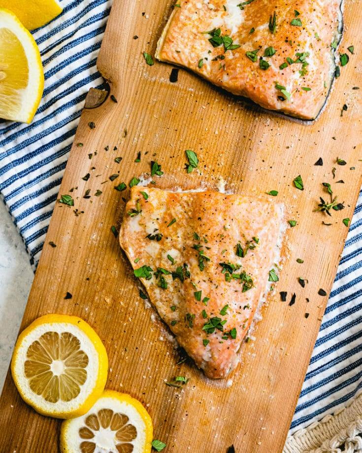 Easy Cedar Plank Salmon