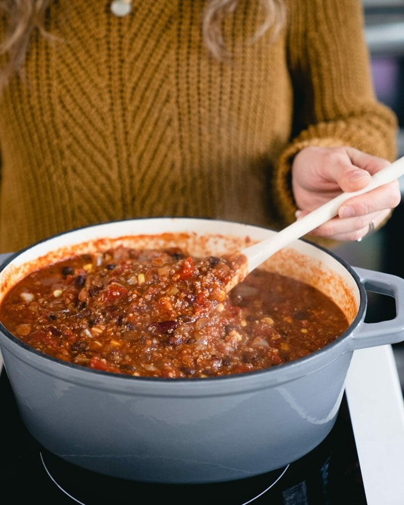 Stirring chili