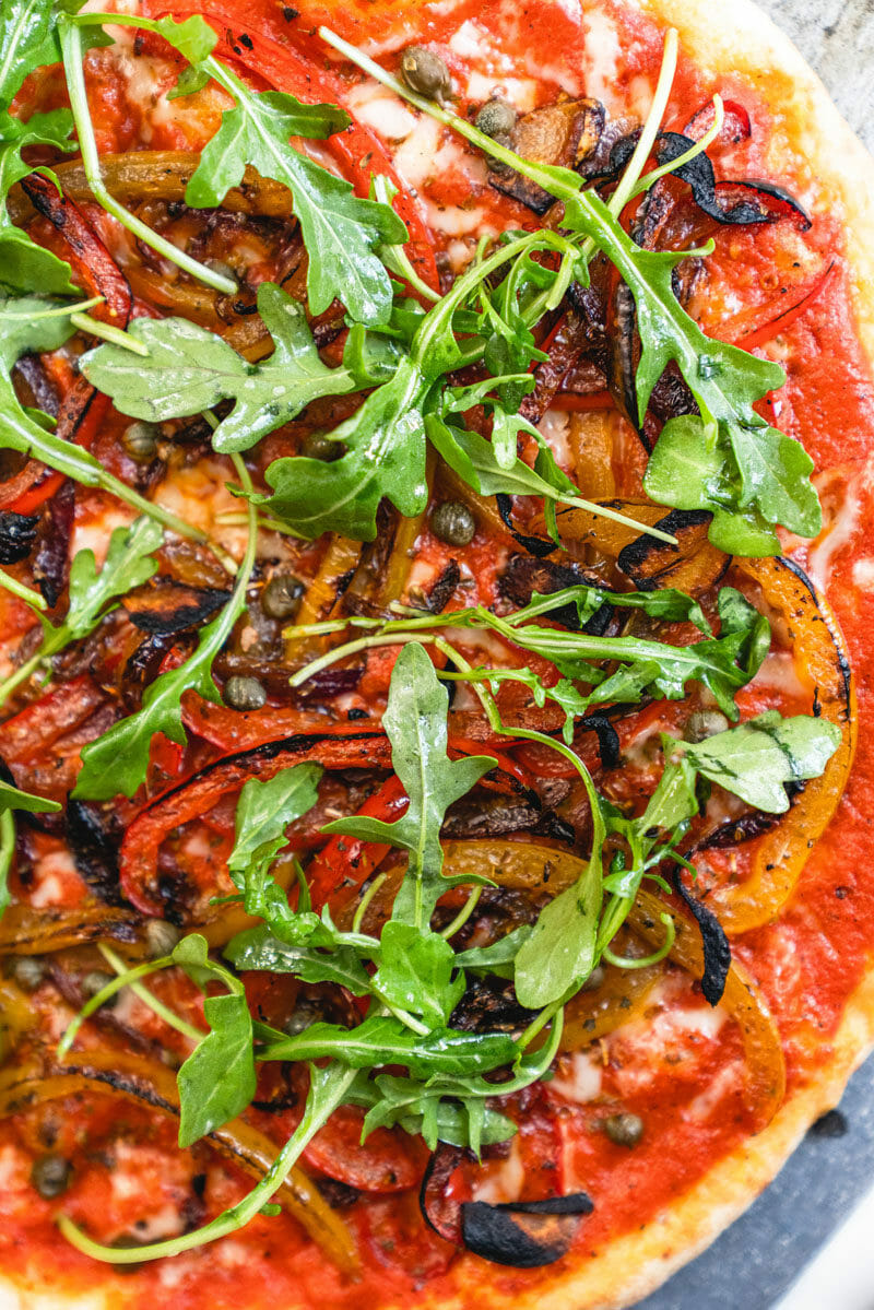 Loaded veggie healthy pizza recipe