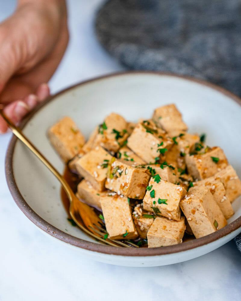 Marinaded tofu