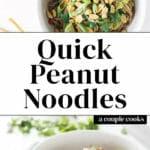Quick Peanut Noodles