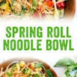 Spring Roll Noodle Bowl