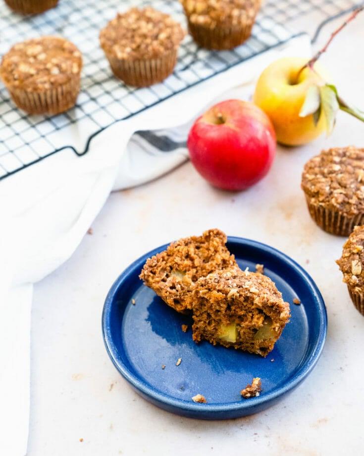 Vegan Apple Streusel Muffins