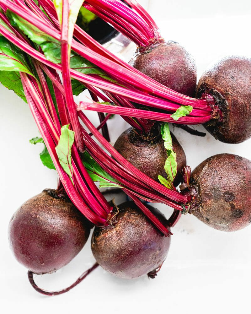 Whole roasted beets