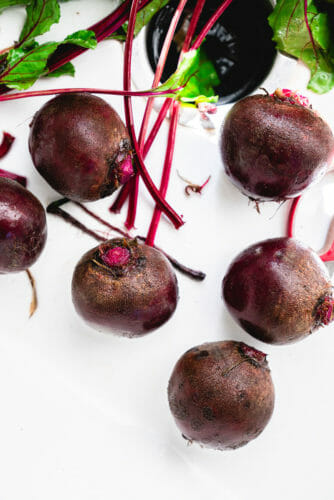 Boiling beets