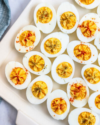Easy deviled eggs
