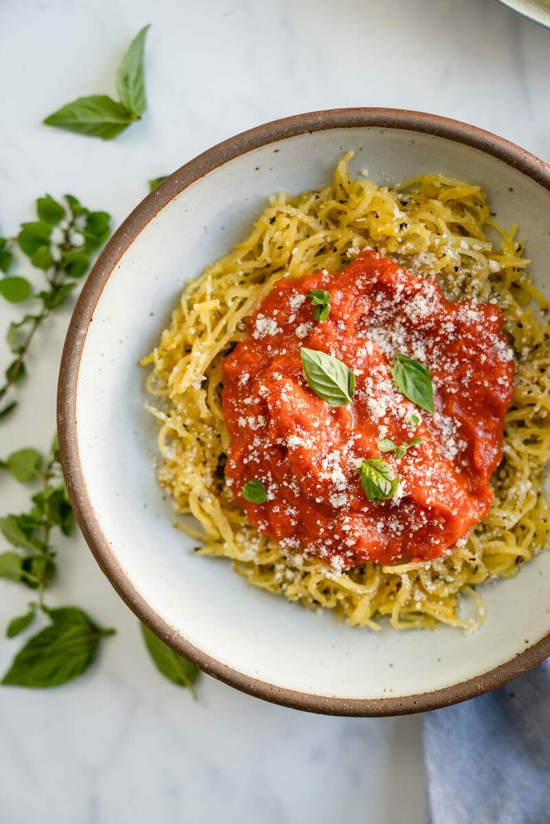 Spaghetti squash spaghetti