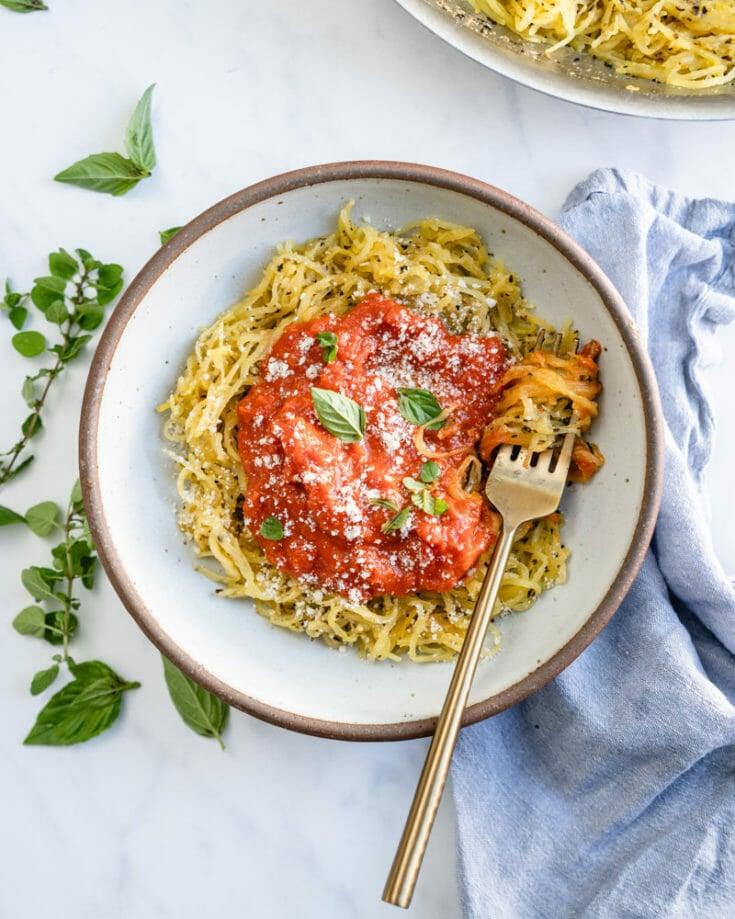 Pressure Cooker Spaghetti Squash Spaghetti