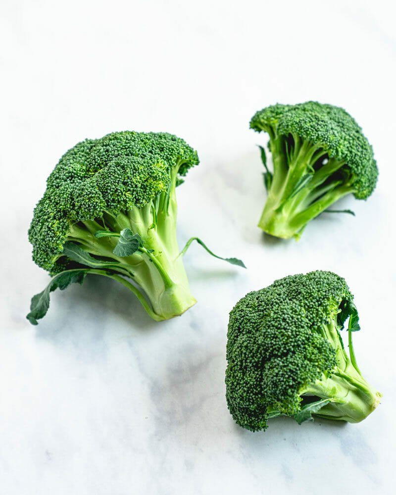 Florets of broccoli
