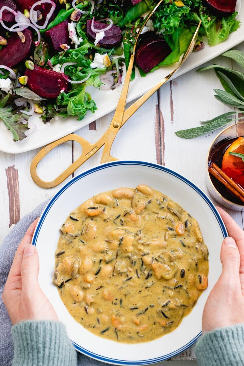 Vegan Creamy Wild Rice Soup