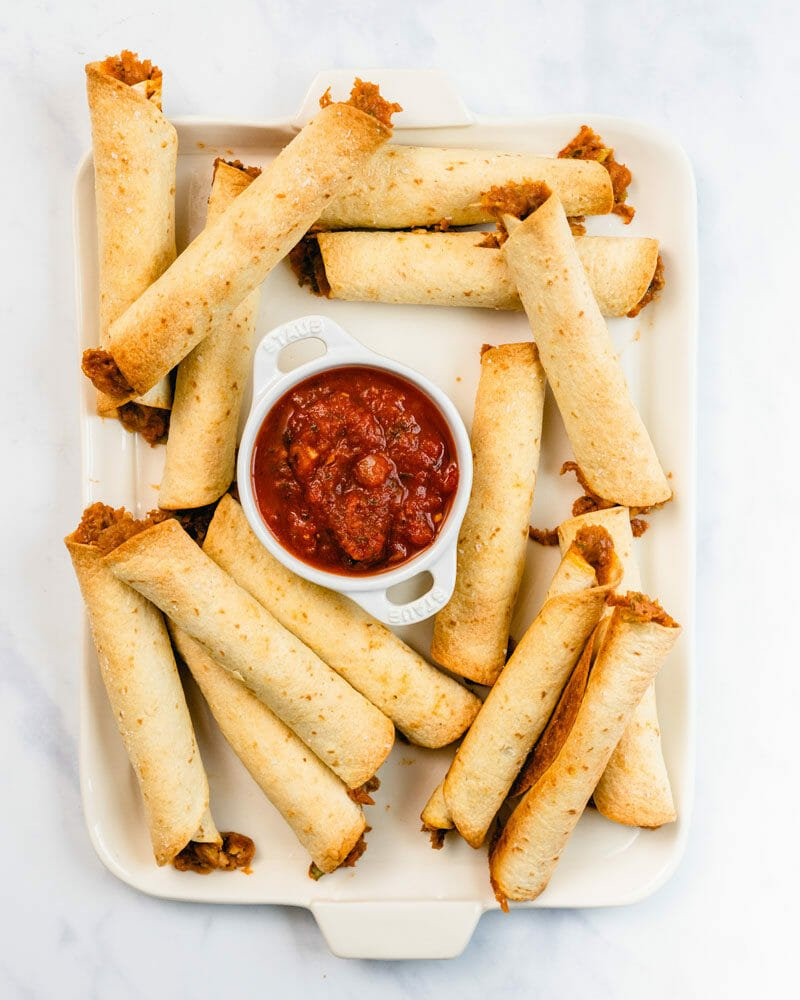 Baked flautas (baked taquitos)