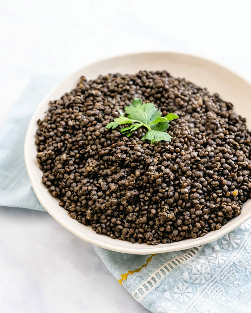 Seasoned Black Lentils Recipe A Couple Cooks