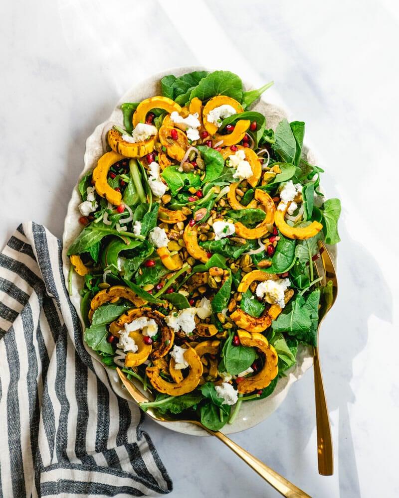 Delicata Squash Salad With Pomegranate A Couple Cooks